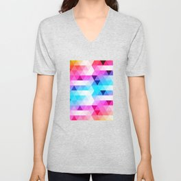 Abstract Triangle Colorful Unisex V-Neck