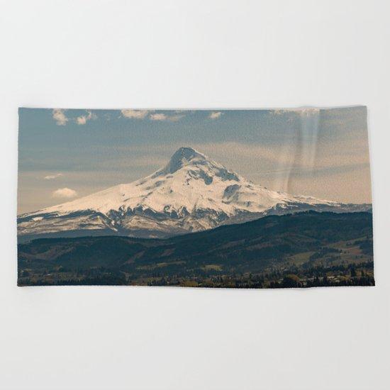 Mountain Valley Pacific Northwest Beach Towel
