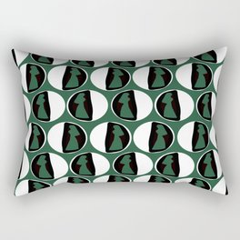 Dots Cardin Green Rectangular Pillow