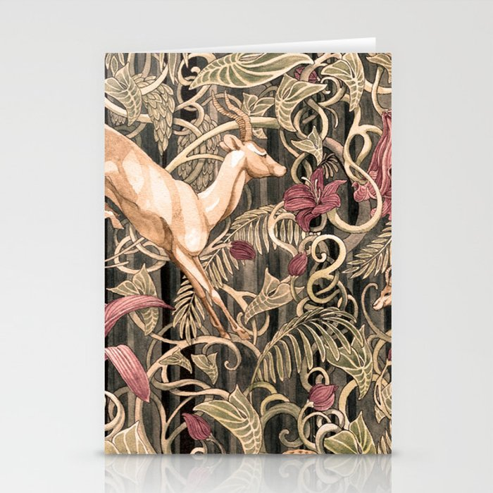 Wild life pattern Stationery Cards