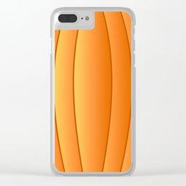 Bland Pumpkin Clear iPhone Case