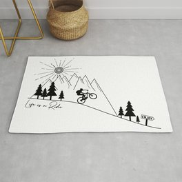cycling mountain bike mountainbike cyclist bicycle MTB gift Rug