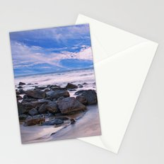 Purple Hazed Rocks Stationery Cards