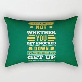 Lab No.4 - It's Not Whether You Get Knocked Down Inspirational Quotes Poster Rectangular Pillow