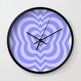 Purple Hearts by Freddi Jr Wall Clock