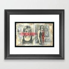 Erica Mugshot Framed Art Print