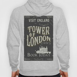 Tower of london England vintage poster Hoody