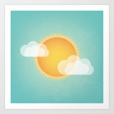 Sun in the Sky Art Print