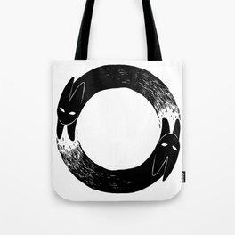 The Black Rabbit Tote Bag
