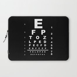 Inverted Eye Test Chart Laptop Sleeve
