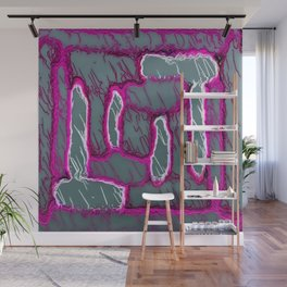 vintage psychedelic painting texture abstract background in pink and grey Wall Mural