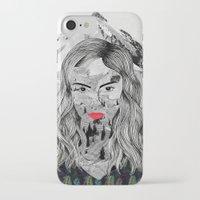 cara iPhone & iPod Cases featuring Cara by Veronique de Jong