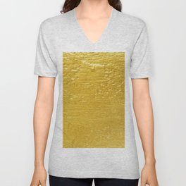 Solid Gold Paint Texture Unisex V-Neck