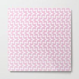 Sea Urchin - Light Pink & White #320 Metal Print