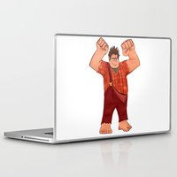 wreck it ralph Laptop & iPad Skins featuring I'm Gonna Wreck It! by shaunaoconnor