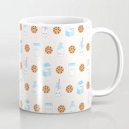 Milk and Cookies Pattern on Cream Coffee Mug