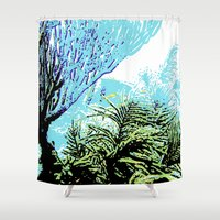 coral Shower Curtains featuring Coral by Stephen Linhart