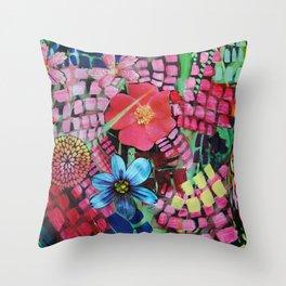 Garden Action Throw Pillow