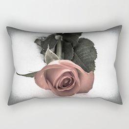 Rose resting in the snow Rectangular Pillow