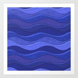 Wavy Textures Art Print