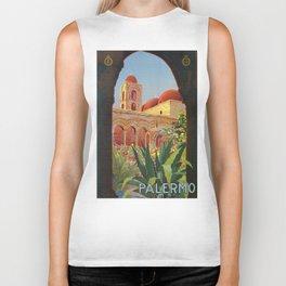 vintage 1920s Palermo Sicily Italian travel ad Biker Tank