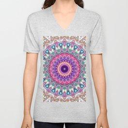Colorful Ornate Mandala Unisex V-Neck