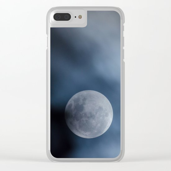 Moon blue 4 Clear iPhone Case