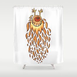 Fire Eye Shower Curtain