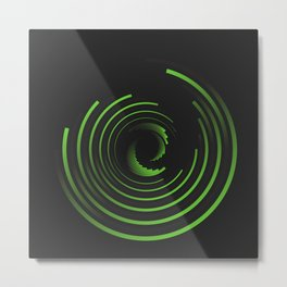 //GREEN Metal Print