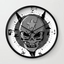 Skull black and white Wall Clock