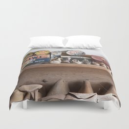 Old Shoe Shop Duvet Cover