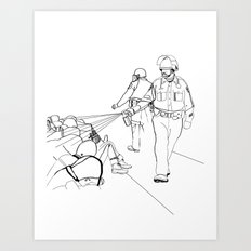 Pepper Spray(Illustration for Police Brutality Coloring Book) Art Print