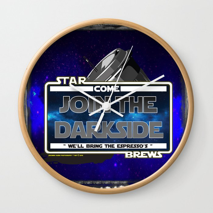 Come to the Darkside, The Coffee Wars, Jeronimo Rubio, Photography, Art 2016 Wall Clock
