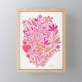 Garden – Pink Palette Framed Mini Art Print