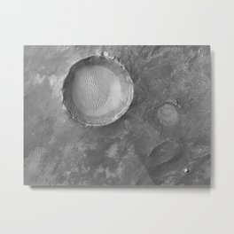 Schroeter Crater - Mars surface Telescopic Photograph Metal Print