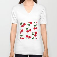 cherry V-neck T-shirts featuring cherry by vitamin