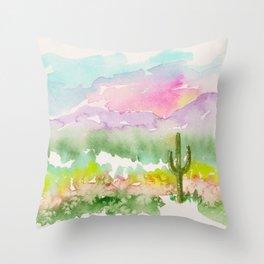 Lone Saguaro Cactus Throw Pillow