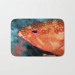 Coral Cod's Head Bath Mat