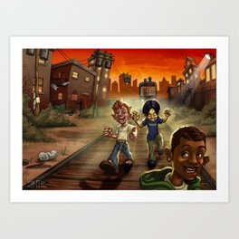 Care Free Youth Art Print