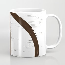 Primitive drawing lines brown 2 Coffee Mug