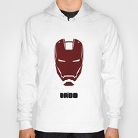 ironman Hoodies featuring IRONMAN by agustain