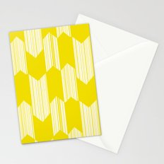 Yellow  Boho Arrows Stationery Cards