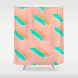 Neon Abstract Pasta Noodles Pattern (Color) Shower Curtain