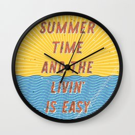 Summertime - A Hell Songbook Edition Wall Clock
