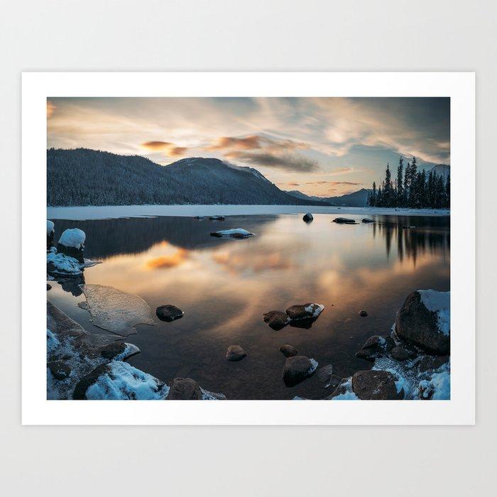 Lake reflections Art Print
