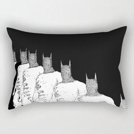 The Bat Black and White Fading Away Rectangular Pillow