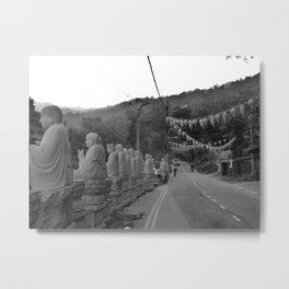 Buddhas on the Road Metal Print