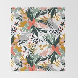 Botanical brush strokes I Throw Blanket
