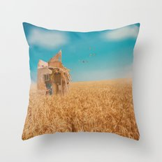 day in the field Throw Pillow