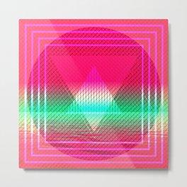 Geometric Art Pattern Prisma Triangle Retangle Artist Gift Metal Print
